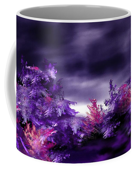 Abstract Digital Painting Coffee Mug featuring the digital art Landscape 9-26-09 by David Lane