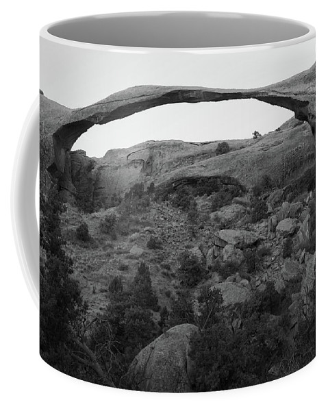 Landscape Arch Coffee Mug featuring the photograph Landscape Arch by Marie Leslie