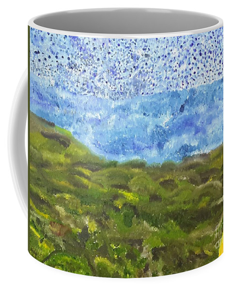 Coffee Mug featuring the painting Landscape Dots by Bryan Fuller