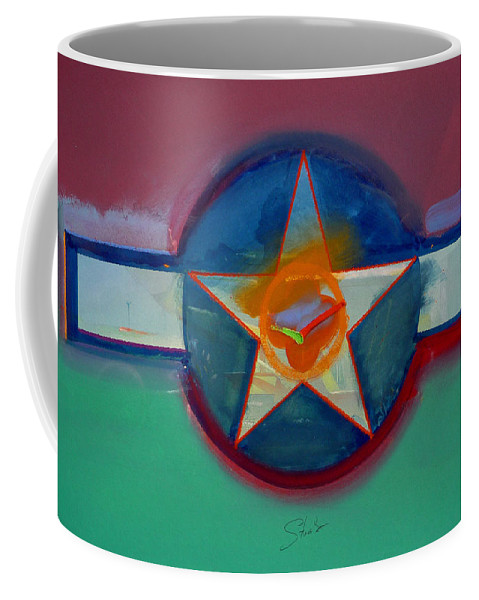 Star Coffee Mug featuring the painting Landscape In The Balance by Charles Stuart