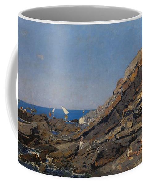 Nature Coffee Mug featuring the painting Landscape Marine Background Avendano Martinez, Serafin by Avendano Martinez Serafin