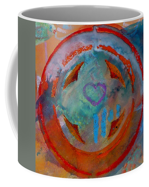 Love Coffee Mug featuring the painting Landscape Seascape by Charles Stuart