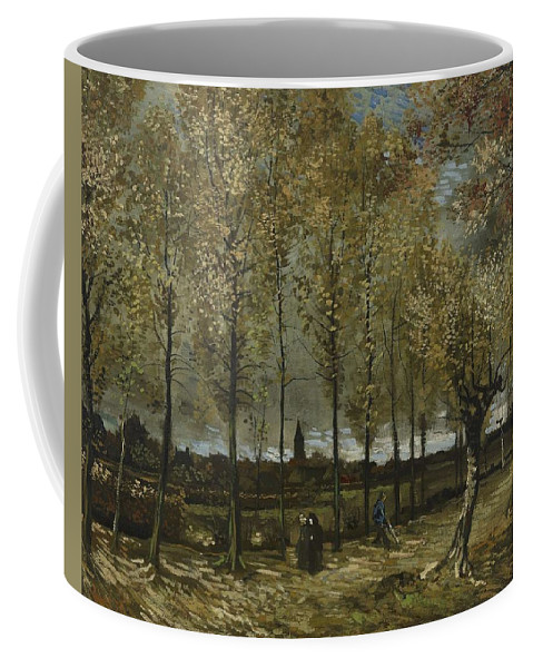 Nature Coffee Mug featuring the painting Lane With Poplars Near Nuenen by Artistic Panda