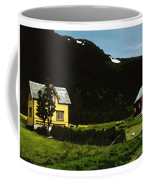 House Coffee Mug featuring the digital art Langsund by Are Lund