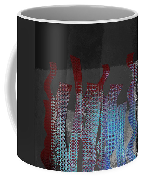Black Coffee Mug featuring the digital art Languettes 02 - J122129076-f22b by Variance Collections