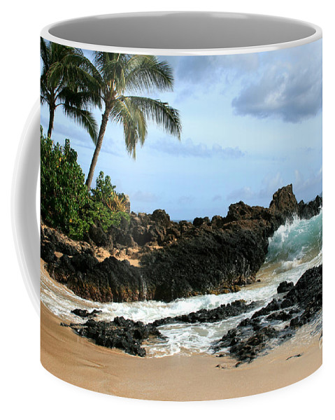 Aloha Coffee Mug featuring the photograph Lapiz Lazuli Stone Aloha Paako Aviaka by Sharon Mau