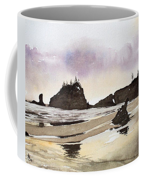 Washington Coffee Mug featuring the painting Lapush by Gale Cochran-Smith