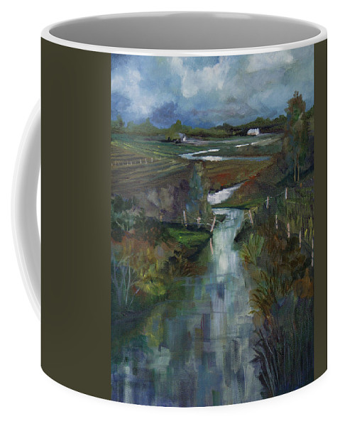 River Coffee Mug featuring the painting Laramie River Valley by Heather Coen