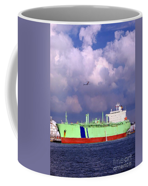 Ship Coffee Mug featuring the photograph Large Oil-tanker by Yali Shi