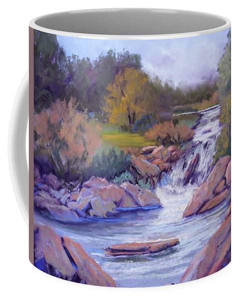 Pastel Coffee Mug featuring the painting Larsen Falls by Heather Coen
