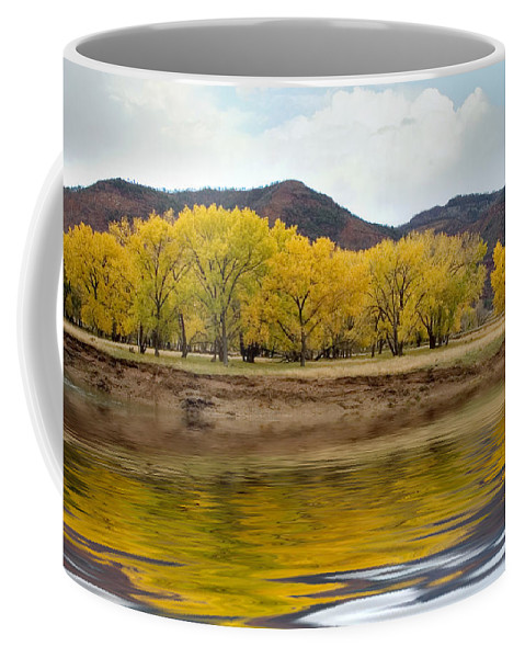 River Coffee Mug featuring the photograph Las Animas Fall by Jerry McElroy