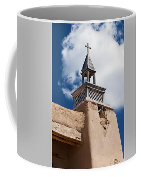 Southwest Coffee Mug featuring the photograph Las Trampas Church by Jim Benest