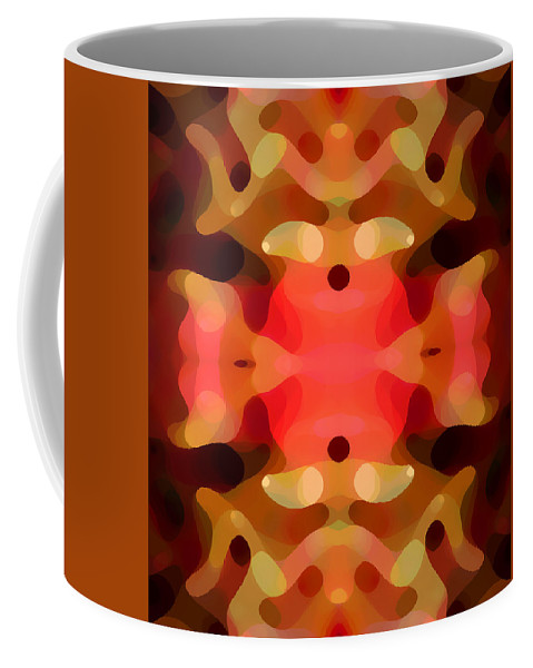 Abstract Painting Coffee Mug featuring the digital art Las Tunas Abstract Pattern by Amy Vangsgard