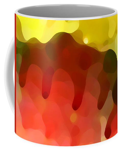 Abstract Coffee Mug featuring the painting Las Tunas Ridge by Amy Vangsgard