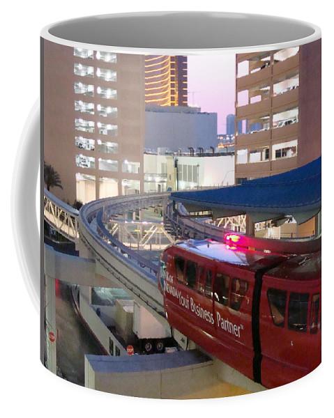 Train Coffee Mug featuring the photograph Las Vegas Monorail by Arlane Crump