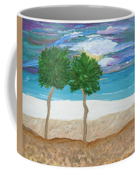 Landscape Coffee Mug featuring the painting Last First Kiss by Sara Credito