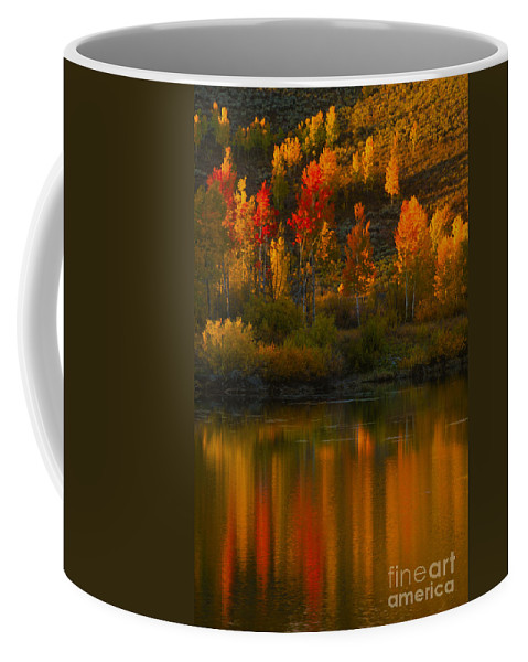 Grand Teton Coffee Mug featuring the photograph Last Light At Oxbow Bend by Sandra Bronstein