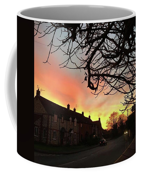 Natureonly Coffee Mug featuring the photograph Last Night's Sunset From Our Cottage by John Edwards