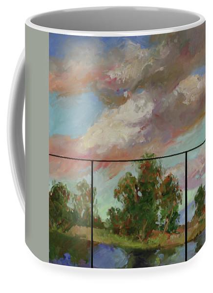 Murals Coffee Mug featuring the painting Last Of Sand Creek - Plein Air by Betty Jean Billups