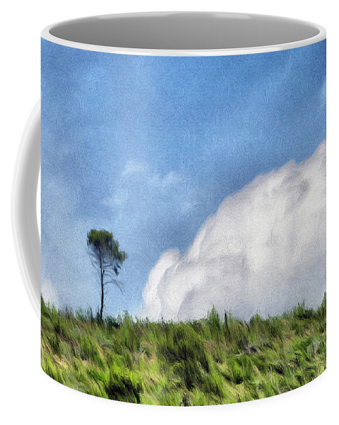 French Coffee Mug featuring the painting Last One Standing by Jeffrey Kolker