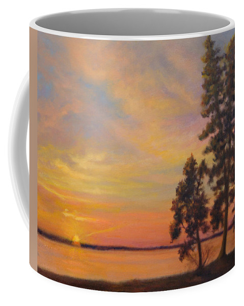 Landscape Coffee Mug featuring the painting Last Rays by Phyllis Tarlow