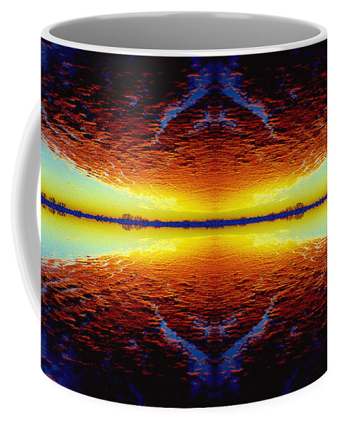 Sunset Coffee Mug featuring the photograph Last Sunset by Nancy Mueller