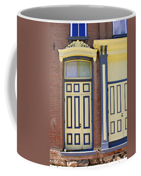 Americana Coffee Mug featuring the photograph Late 1800s Door by Marilyn Hunt