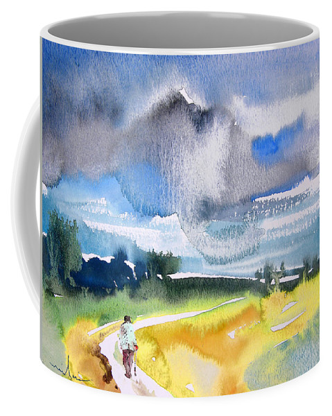 Watercolour Coffee Mug featuring the painting Late Afternoon 04 by Miki De Goodaboom
