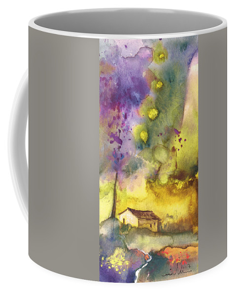 Watercolour Coffee Mug featuring the painting Late Afternoon 13 by Miki De Goodaboom