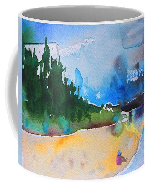 Watercolour Coffee Mug featuring the painting Late Afternoon 17 by Miki De Goodaboom
