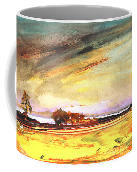 Watercolour Landscape Coffee Mug featuring the painting Late Afternoon 31 by Miki De Goodaboom