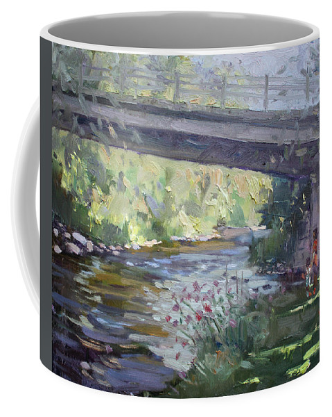 Late Afternoon Coffee Mug featuring the painting Late Afternoon At Mcnab Park by Ylli Haruni
