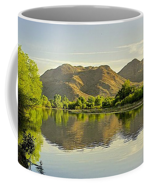 River Coffee Mug featuring the photograph Late Afternoon At Rio Verde River by Barbara Zahno
