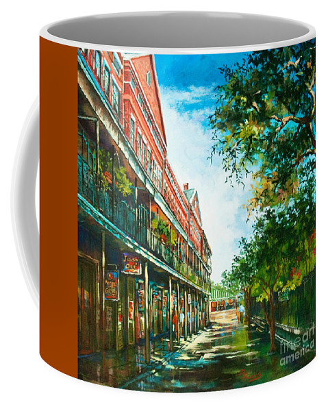New Orleans Art Coffee Mug featuring the painting Late Afternoon On The Square by Dianne Parks