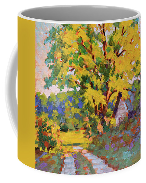 Impressionism Coffee Mug featuring the painting Late Morning Light by Keith Burgess
