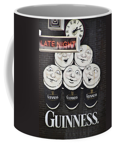 Guinness Coffee Mug featuring the photograph Late Night Guinness Limerick Ireland by Teresa Mucha