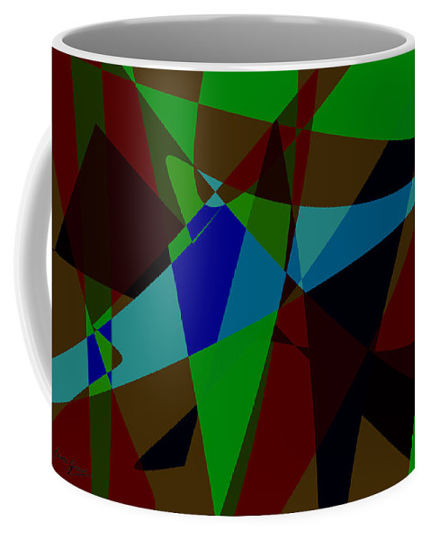 Abstract Coffee Mug featuring the digital art Late Party by Laura Greco