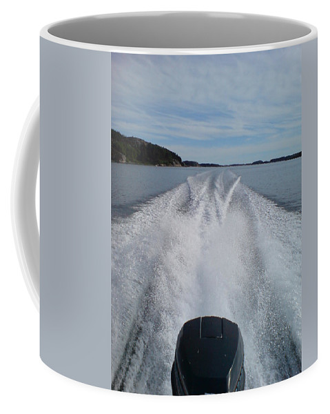 Sea Coffee Mug featuring the photograph Launched by Are Lund
