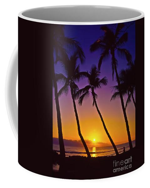 Sunset Coffee Mug featuring the photograph Launiupoko Sunset by Jim Cazel