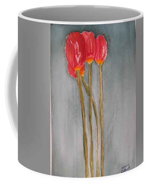Tulip Flower Bouquet Coffee Mug featuring the painting Laura by Patricia Caldwell