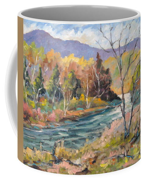 Landscape Coffee Mug featuring the painting Laurentian Hills by Richard T Pranke