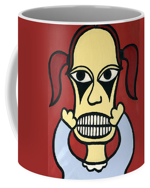 Girl Coffee Mug featuring the painting Laurie by Thomas Valentine