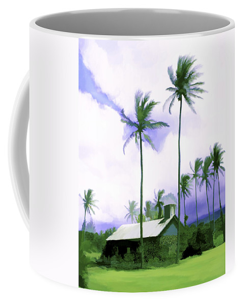 Hawaii Coffee Mug featuring the photograph Lava Rock Church by Kurt Van Wagner