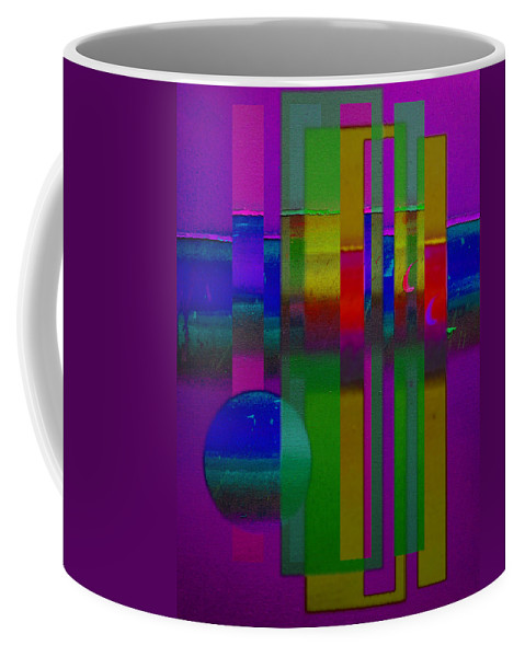 Landscape Coffee Mug featuring the painting lavender Doors by Charles Stuart
