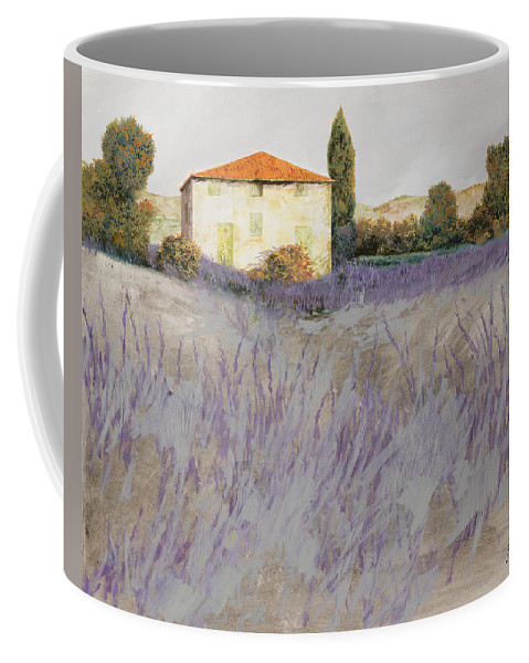 Lavender Coffee Mug featuring the painting Lavender by Guido Borelli