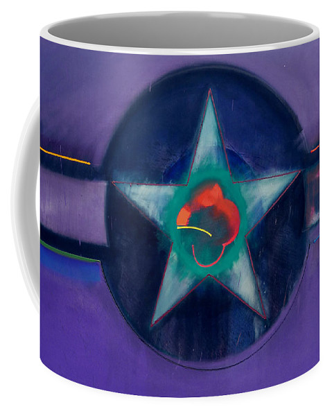 Usaaf Coffee Mug featuring the painting Lavender Mist by Charles Stuart