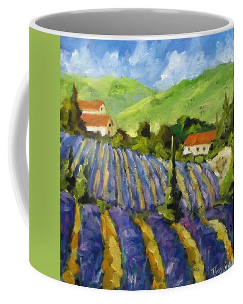 Art Coffee Mug featuring the painting Lavender Scene by Richard T Pranke