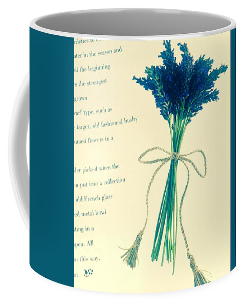 Coffee Mug featuring the photograph Lavender Tied With A Bow by Jacqueline Manos