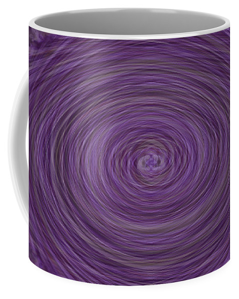 Abstract Coffee Mug featuring the photograph Lavender Vortex by Teresa Mucha