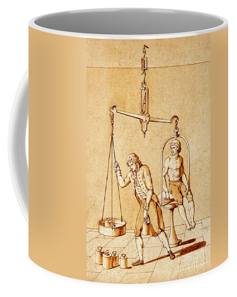 Science Coffee Mug featuring the photograph Lavoisiers Respiration Experiments by Science Source